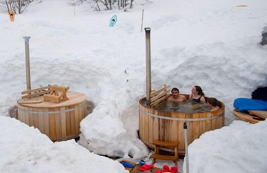 Baño nórdico estación esquí  Gourette
