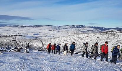 Caminata raquetas estación esquí Valdelén