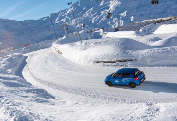 Co-conducción sobre hielo Val Thorens