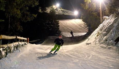 Esquí nocturno estación Lac Noir