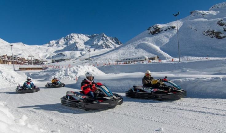 Karting sobre hielo estación esquí Val Thorens