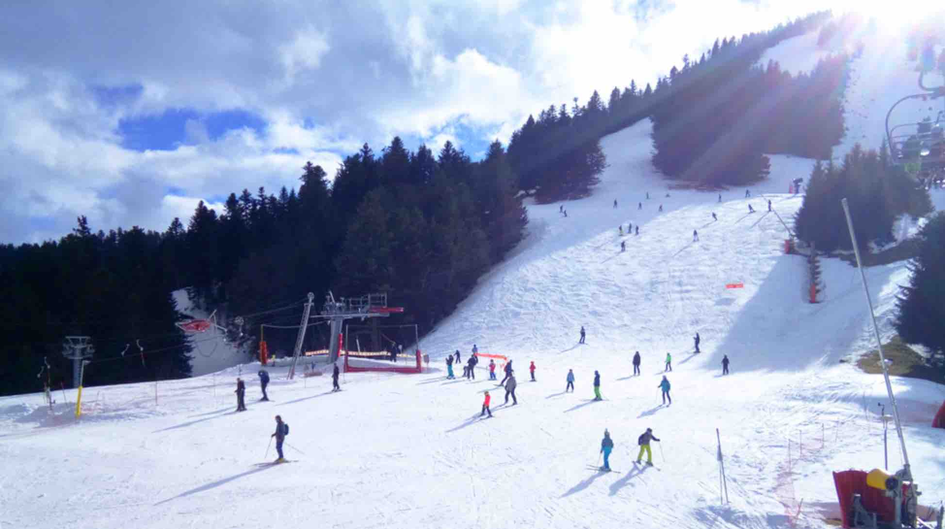 The sunny slopes of Le Mourtis