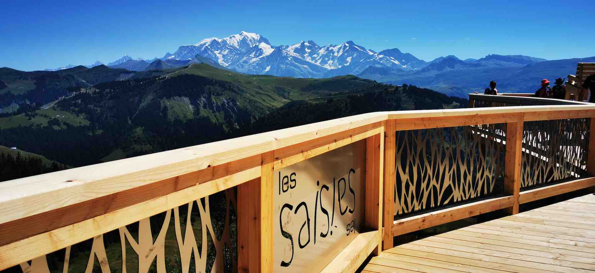 The balcony at Les Saisies facing Mont Blanc