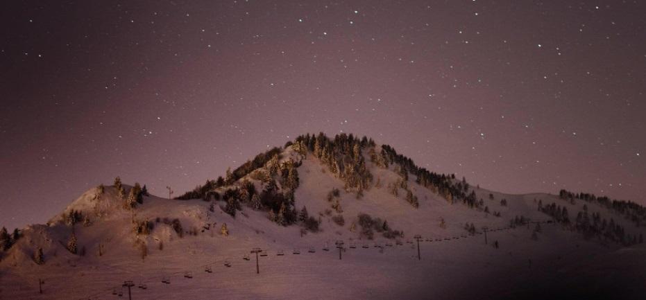 Noche estación de esquí Bellevaux
