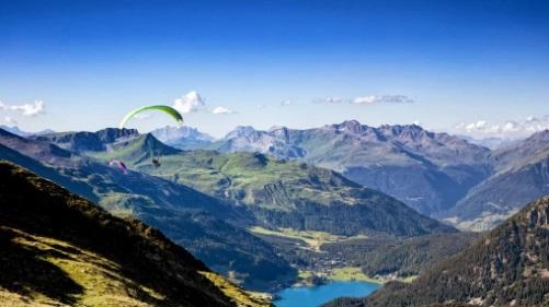 Parapente estación de esquí Davos-Klosters