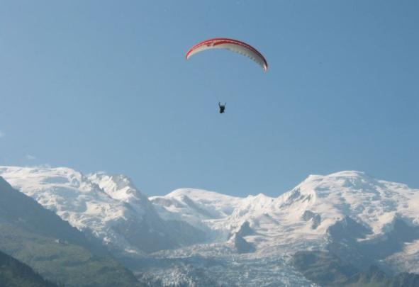Parapente estación de esquí Grand Montets