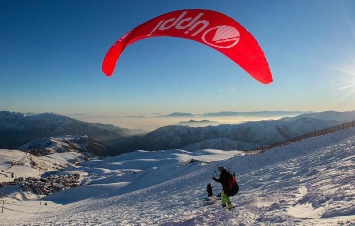Parapente estación esquí La Parva