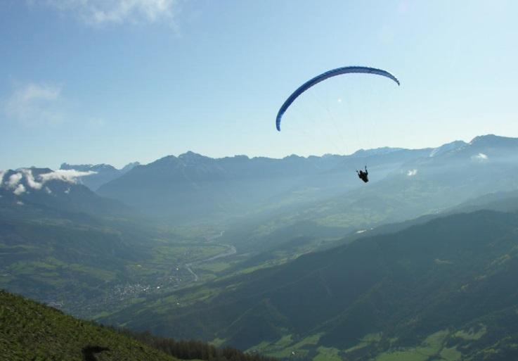 Parapente estación esquí Pra Loup