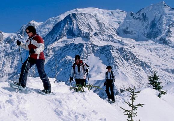 Raquetas de nieve estación de esquí Grand Montets