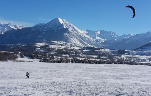 Snowkite estación esquí Ancelle