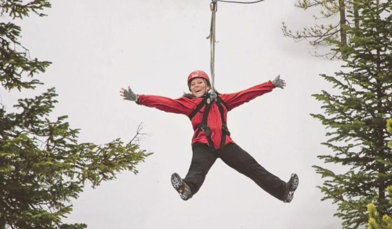 Tirolina estación de esquí Big Sky Resort