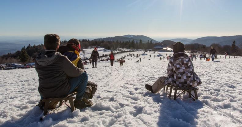 Trineo estación de esquí Ballon d'Alsace