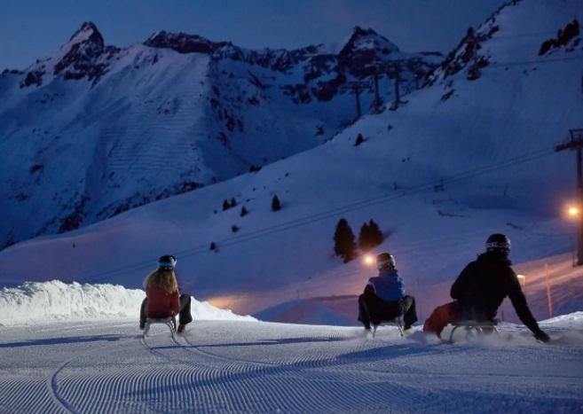 Trineo estación esquí Ischgl