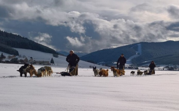Trineo perros estación esquí Méaudre