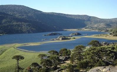Vistas al lago Aluminé