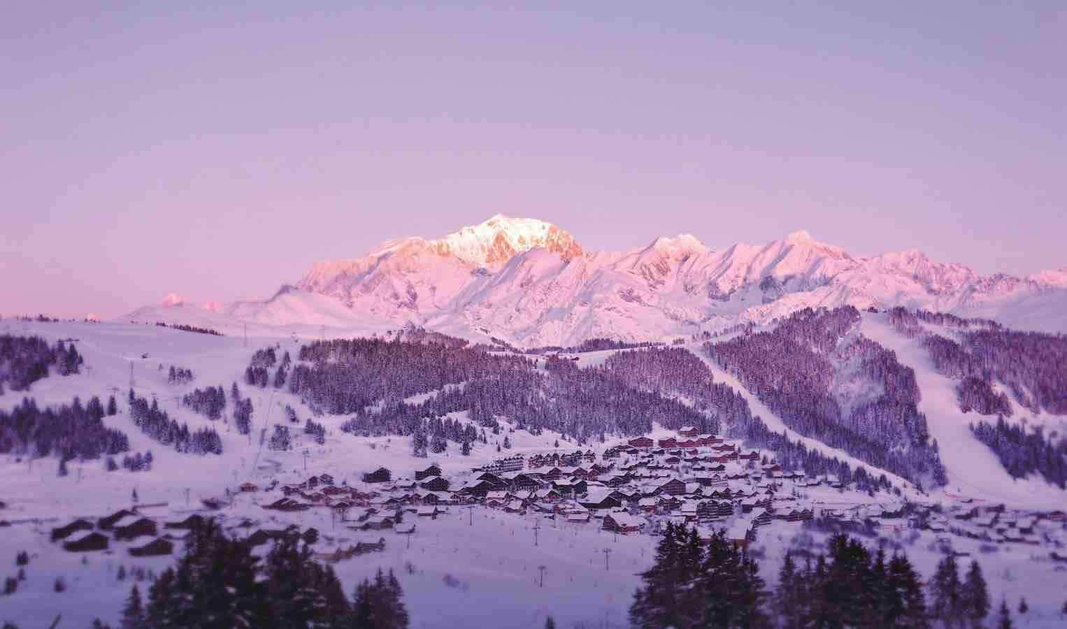 Sunset at Les Saisies Ski Resort