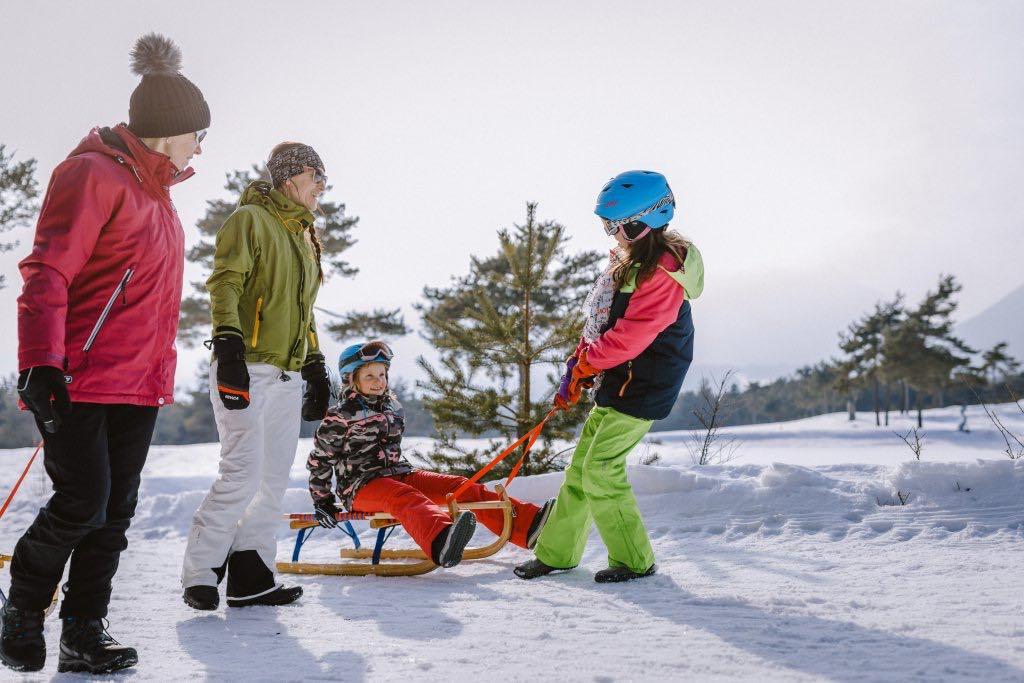 Trineo estación de esquí Serfaus