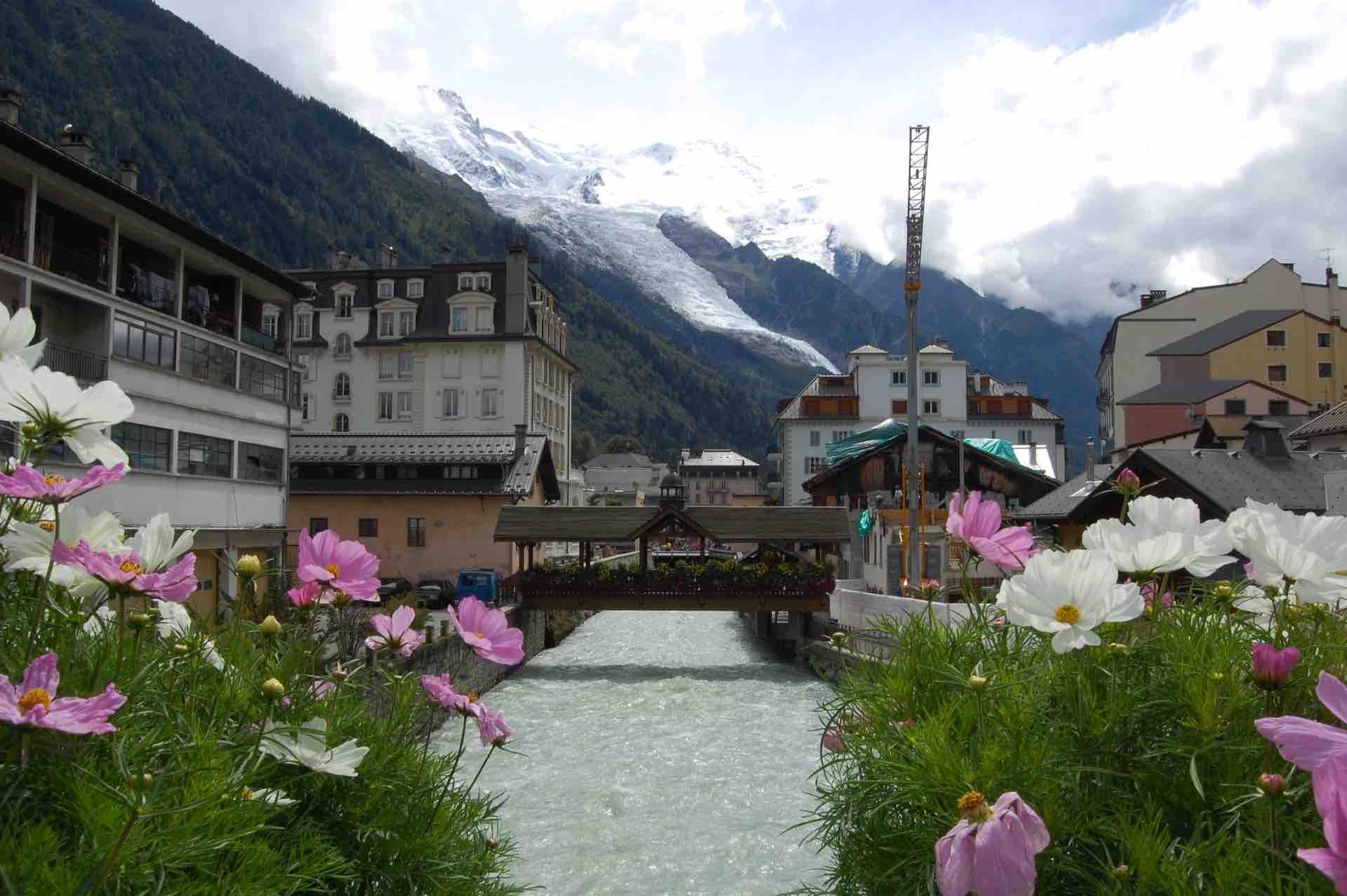 Chamonix con vistas al Mont Blanc