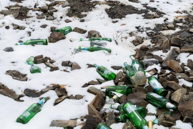 Residuos en la nieve