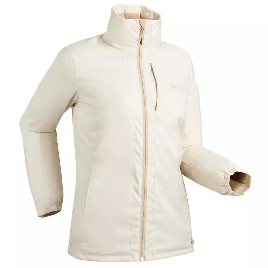 chaqueta decathlon color crema barata mujer
