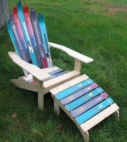 tumbona con esquís