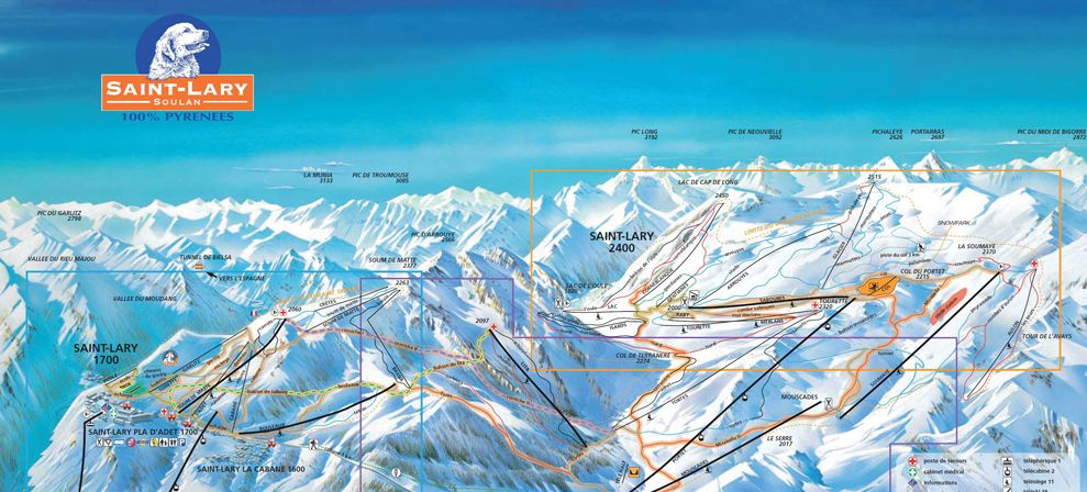 Track map in Saint-Lary
