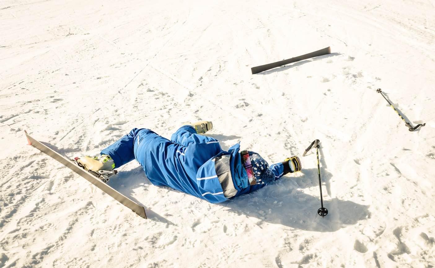 esqui snowboard caida lesion