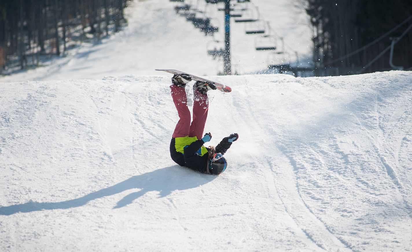 caida snowboard lesion