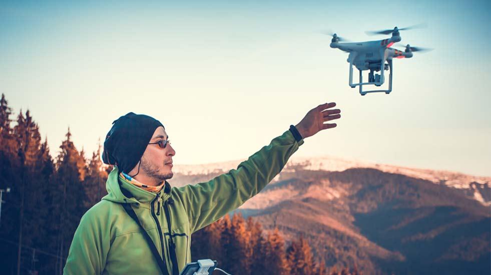 dron mountains