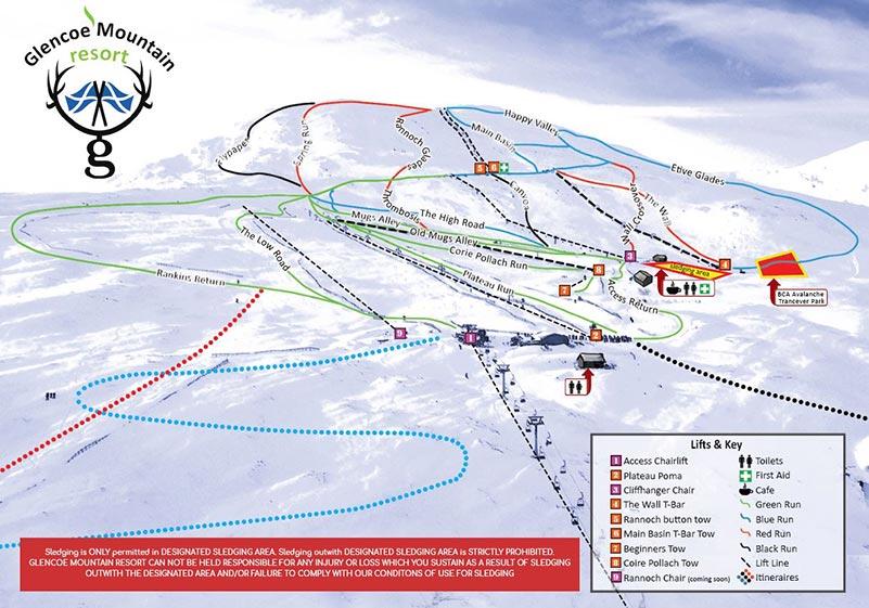 Glencoe-Piste-Map