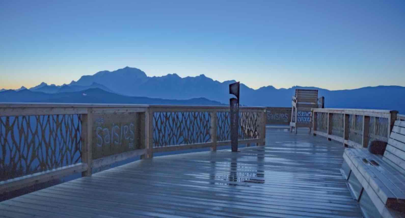 Les Saisies with views of Mont Blanc iloveski ski holiday