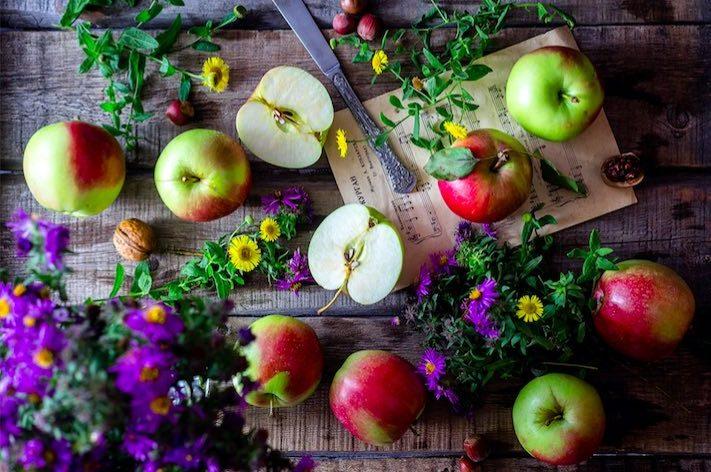 manzanas para mascarilla