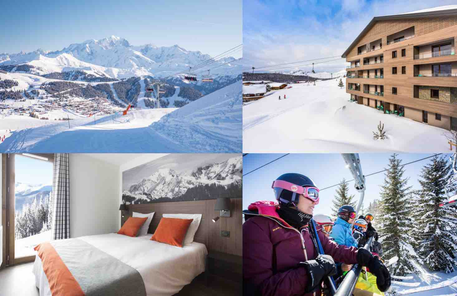 ski holiday views from the Residence Club MMV Les Chalets des Cimes
