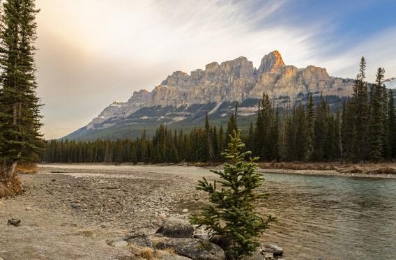 montaña más bonita del mundo Castle Mountain