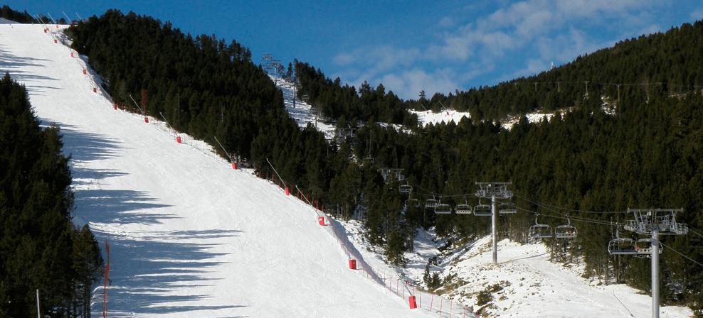 La estación esquí Les Angles