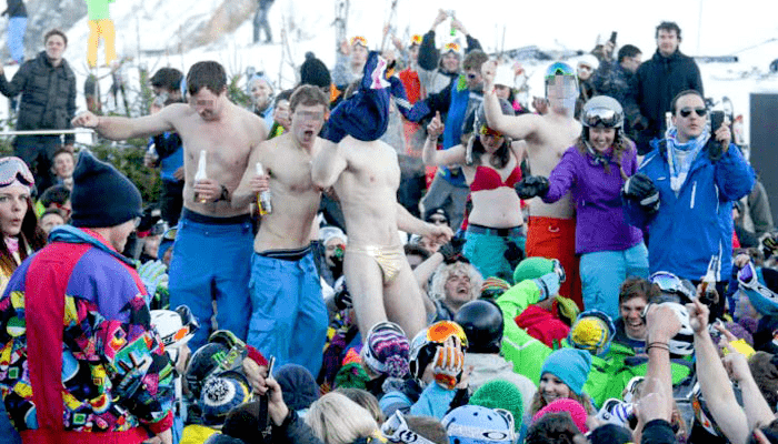 droga alcohol esquí