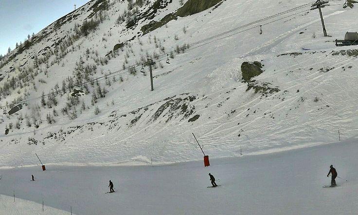 nieve en Alpes